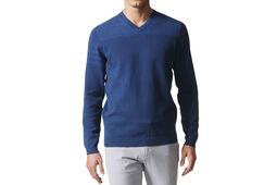 adidas Golf 3-Stripe V-Neck Sweatshirt