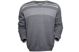 Palm Grove Lined Striped Sweatshirt
