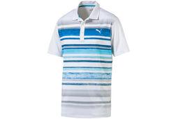 PUMA Golf Washed Stripe Poloshirt
