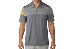 adidas Golf Heather 3-Stripes Poloshirt