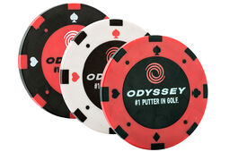 Odyssey Pokerchip Ballmarker - 3er-Packung