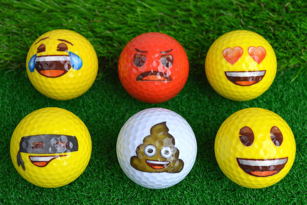 Emoji Golf Balls 6 Pack