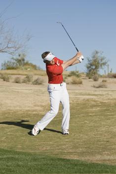 Golf Flop Shot Auf hartem Boden