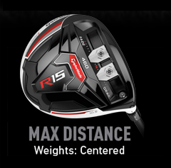 TaylorMade R15 Weight Alignment - Max Distance