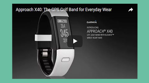 Garmin Approach X40 GPS-Band