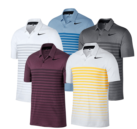 Nike Golf Dry Heather Stripe Poloshirt