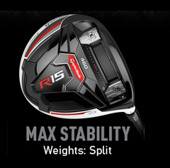 TaylorMade R15 Weight Alignment - Max Stability