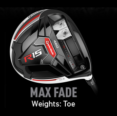 TaylorMade R15 Weight Alignment - Max Fade